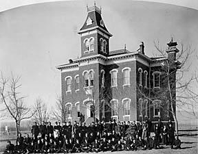 Picture of original CSU Library